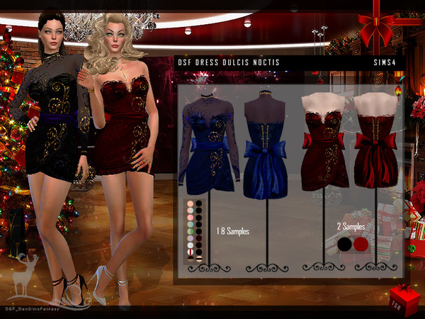 Sims 4 DSF DRESS DULCIS NOCTIS by DanSimsFantasy at TSR