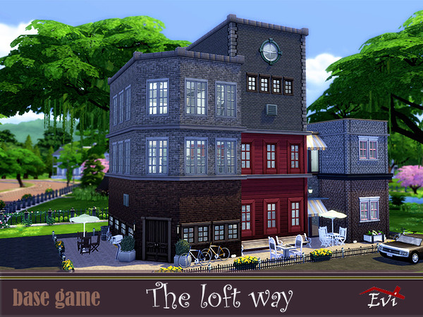 Sims 4 The loft way by evi at TSR