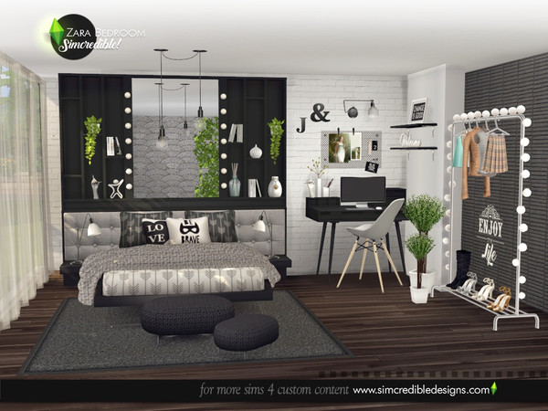 Zara Bedroom by SIMcredible at TSR image 5016 Sims 4 Updates