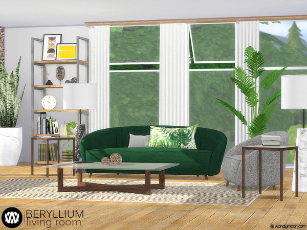 Beryllium Living Room by wondymoon at TSR image 51 Sims 4 Updates