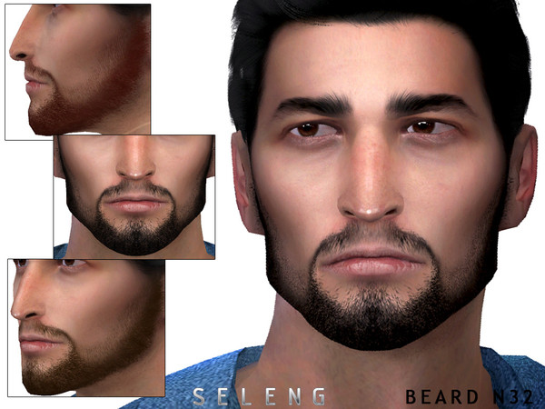 Sims 4 Beard N32 by Seleng at TSR