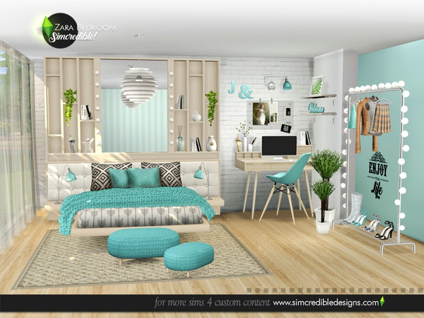 Zara Bedroom by SIMcredible at TSR image 5120 Sims 4 Updates