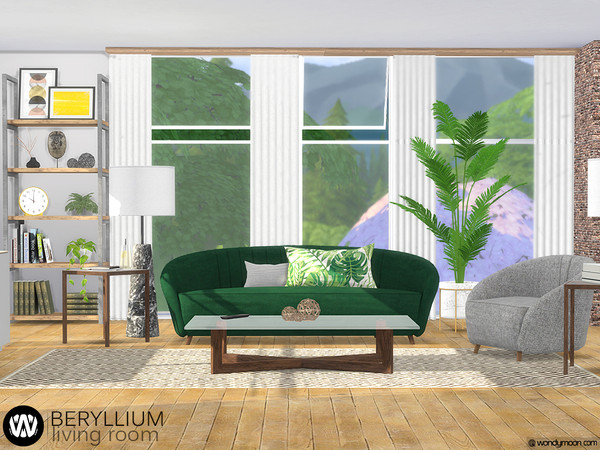 Beryllium Living Room by wondymoon at TSR image 52 Sims 4 Updates