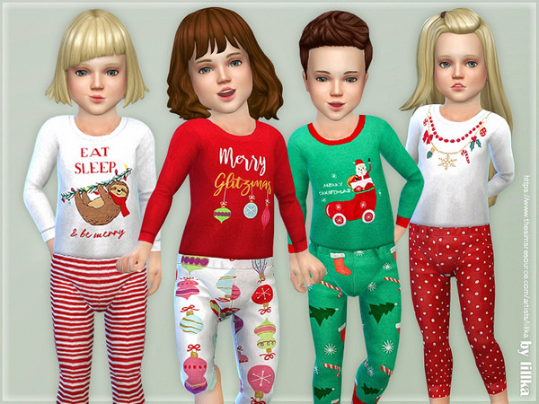 Christmas Pajama for Toddler by lillka at TSR image 5212 Sims 4 Updates