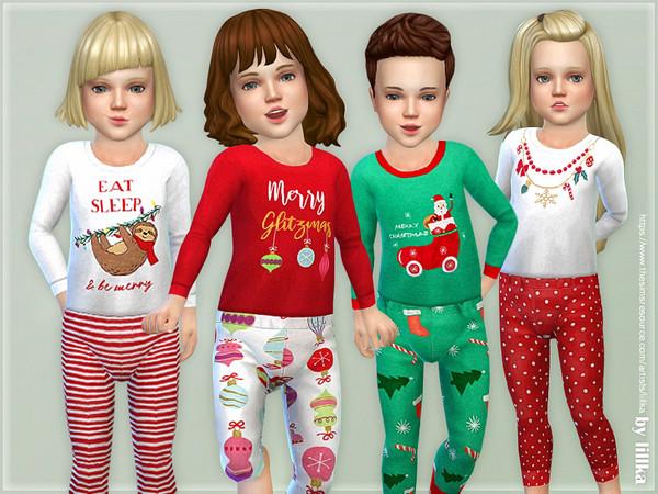 Sims 4 Christmas Pajama for Toddler by lillka at TSR