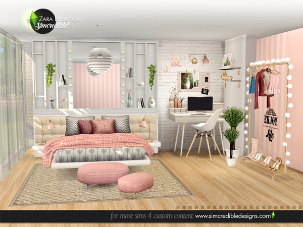Zara Bedroom by SIMcredible at TSR image 5217 Sims 4 Updates