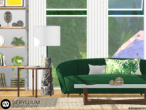Beryllium Living Room by wondymoon at TSR image 53 Sims 4 Updates