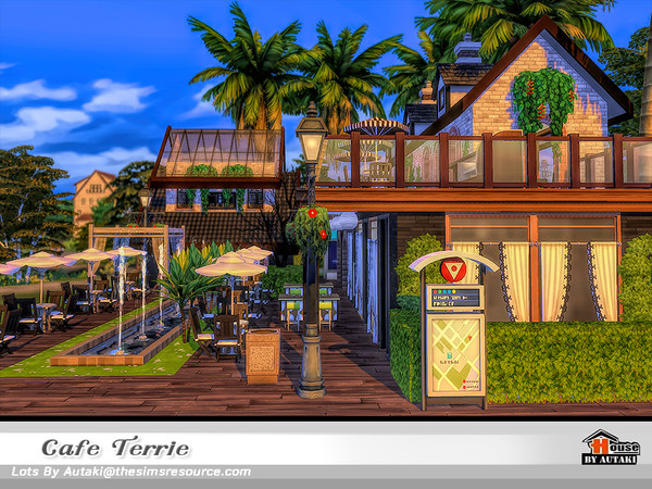 Sims 4 Cafe Terrie by autaki at TSR