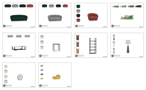 Beryllium Living Room by wondymoon at TSR image 54 Sims 4 Updates