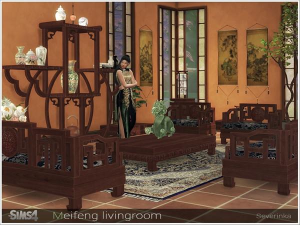 Meifeng livingroom by Severinka at TSR image 547 Sims 4 Updates