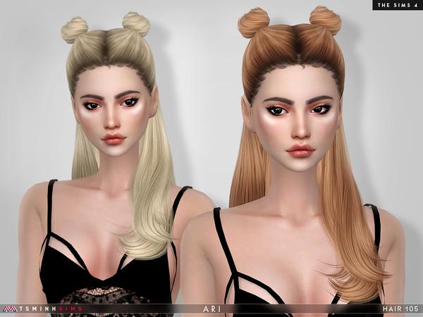 Sims 4 Ari Hair 105 by TsminhSims at TSR