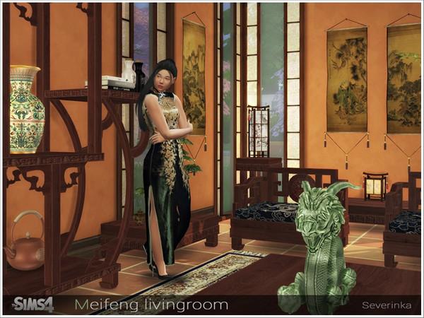 Meifeng livingroom by Severinka at TSR image 557 Sims 4 Updates