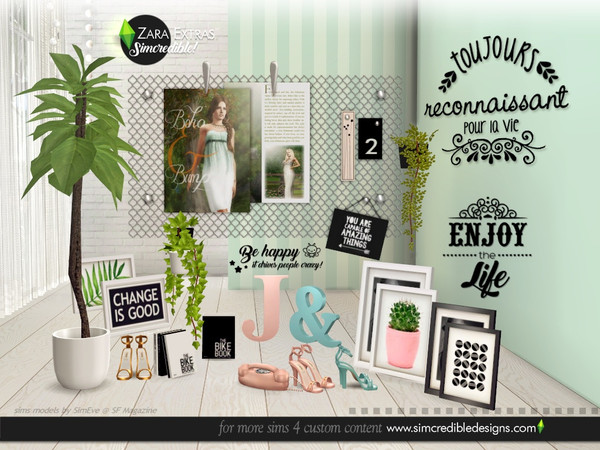 Zara Extras by SIMcredible at TSR image 5616 Sims 4 Updates