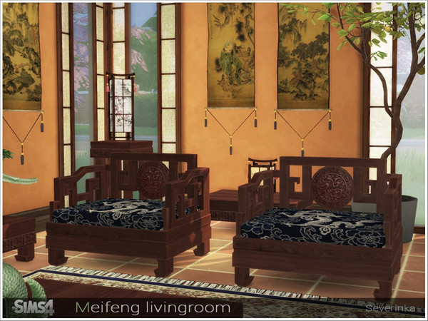 Meifeng livingroom by Severinka at TSR image 566 Sims 4 Updates