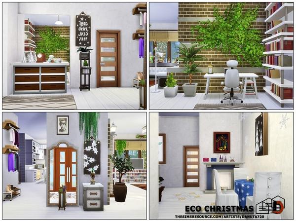 Sims 4 Eco Christmas house by Danuta720 at TSR