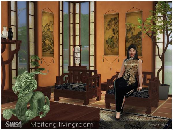 Meifeng livingroom by Severinka at TSR image 577 Sims 4 Updates