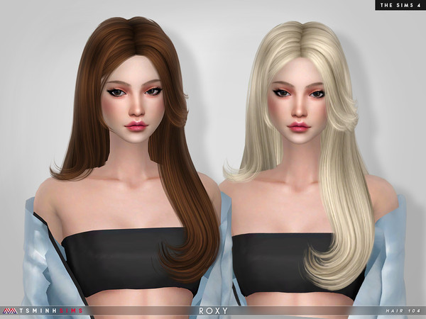 Roxy Hair 104 by TsminhSims at TSR image 579 Sims 4 Updates