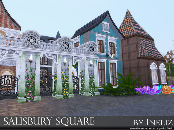 Sims 4 Salisbury Square by Ineliz at TSR
