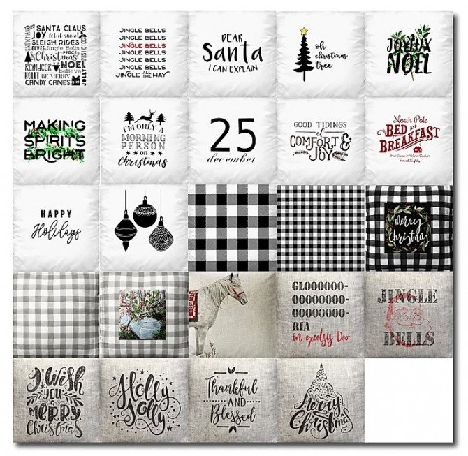Christmas Pillow Recolors by MsTeaQueen at Blooming Rosy image 5931 670x653 Sims 4 Updates