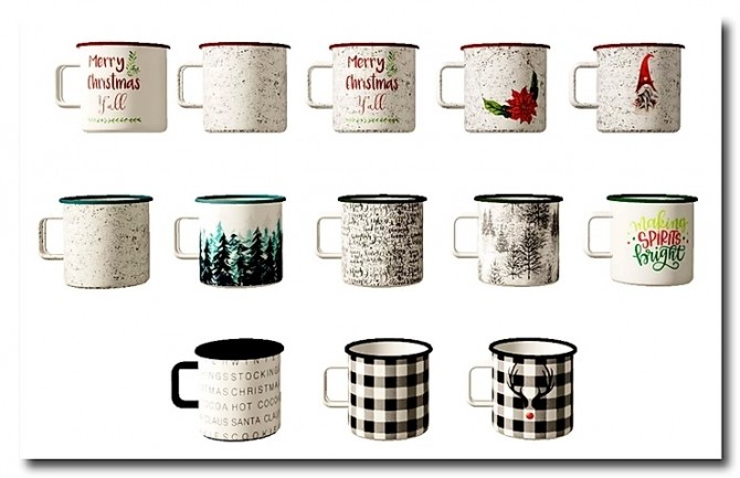 Christmas Mugs by MsTeaQueen at Blooming Rosy image 5941 670x433 Sims 4 Updates