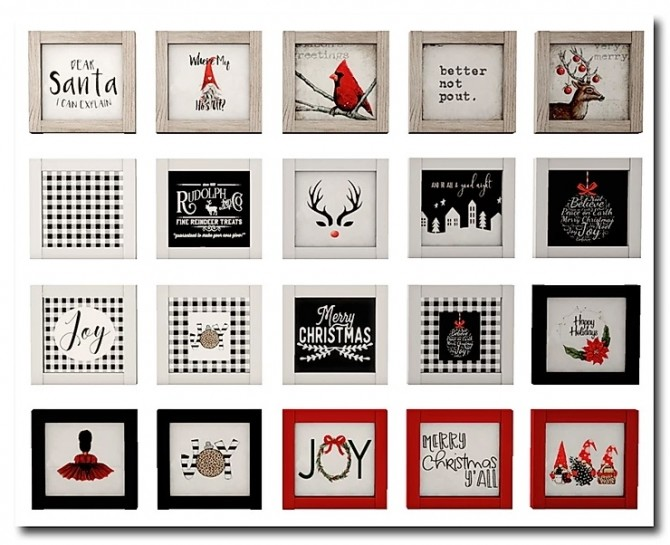 Christmas Mini Rustic Table Signs by MsTeaQueen at Blooming Rosy image 5951 670x545 Sims 4 Updates
