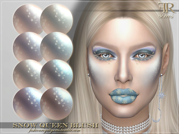 Sims 4 FRS Snow Queen Blush by FashionRoyaltySims at TSR