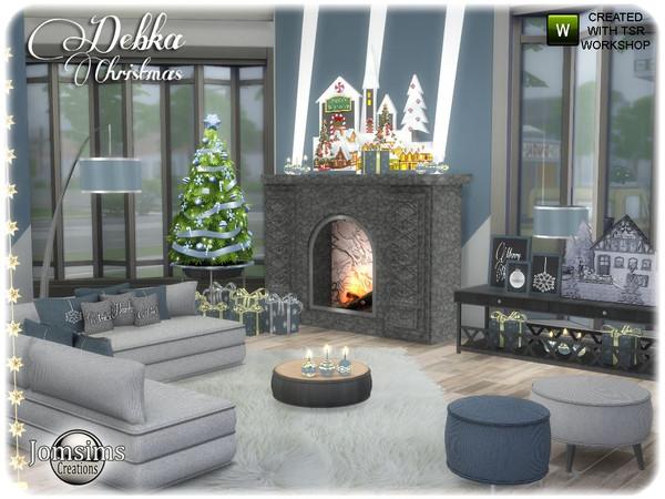 Sims 4 Debka Christmas living by jomsims at TSR