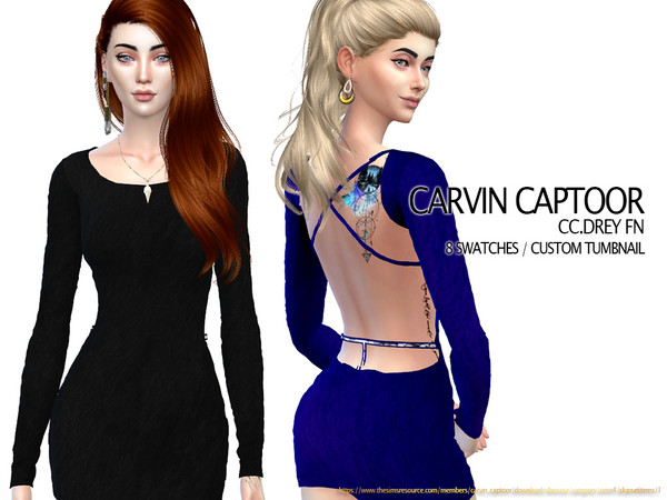 Sims 4 Drey FN dress by carvin captoor at TSR
