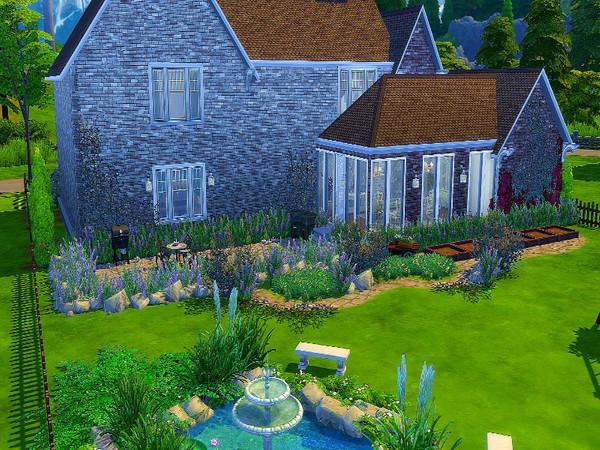 Sims 4 English Victorian Manor by GenkaiHaretsu at TSR