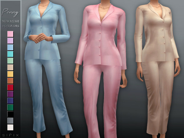 Penny Pajamas by Sifix at TSR image 6214 Sims 4 Updates