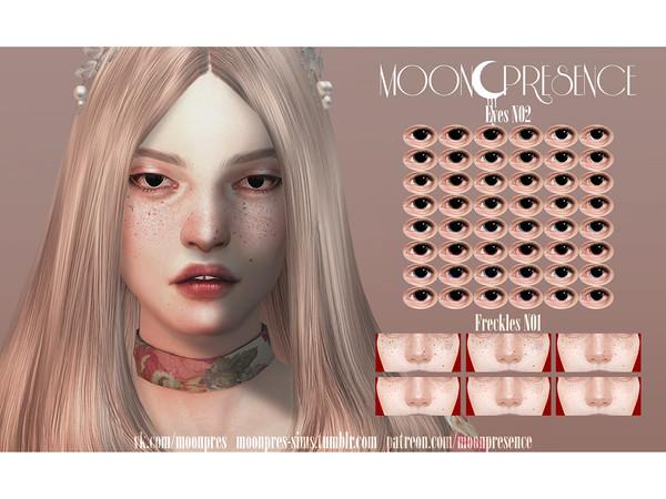 Sims 4 Eyes N02, Freckles N01 by Moon Presence at TSR