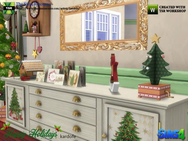 Sims 4 Happy Holidays dining room part 1 by kardofe at TSR
