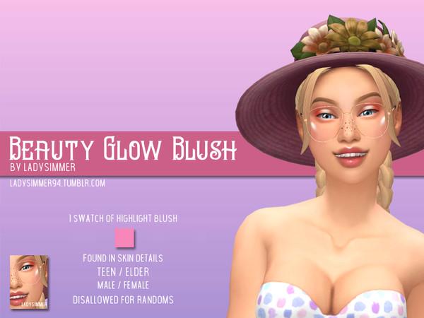 Sims 4 Beauty Glow Blush by LadySimmer94 at TSR