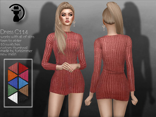 Sims 4 Dress C114 by turksimmer at TSR
