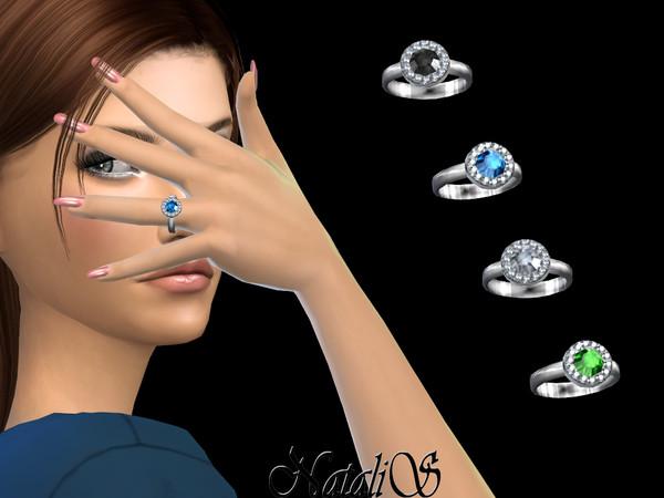 Sims 4 Diamond halo ring by NataliS at TSR