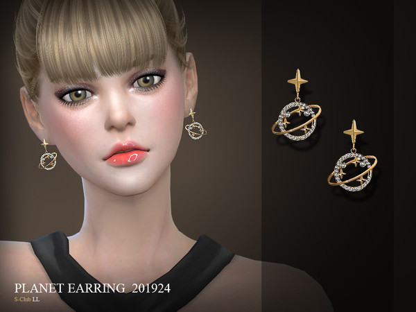 Sims 4 EARRINGS 201924 by S Club LL at TSR