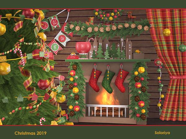 Sims 4 Christmas 2019 set by soloriya at TSR