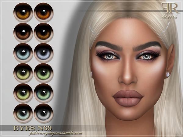 Sims 4 FRS Eyes N69 by FashionRoyaltySims at TSR