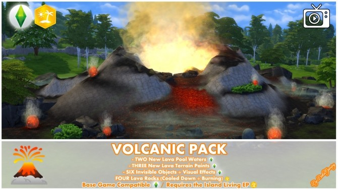 Volcanic Mod Pack by Bakie at Mod The Sims image 673 670x377 Sims 4 Updates