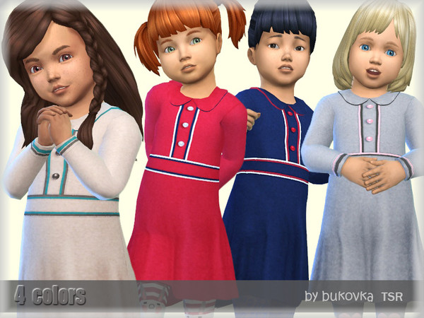 Sims 4 Dress & Piping by bukovka at TSR