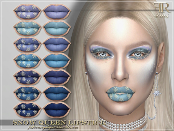 Sims 4 FRS Snow Queen Lipstick by FashionRoyaltySims at TSR