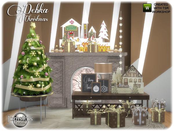 Sims 4 Debka Christmas living part 2 by jomsims at TSR
