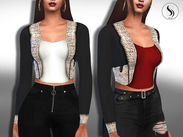 Sims 4 Fit Blazer Fur Jackets by Saliwa at TSR