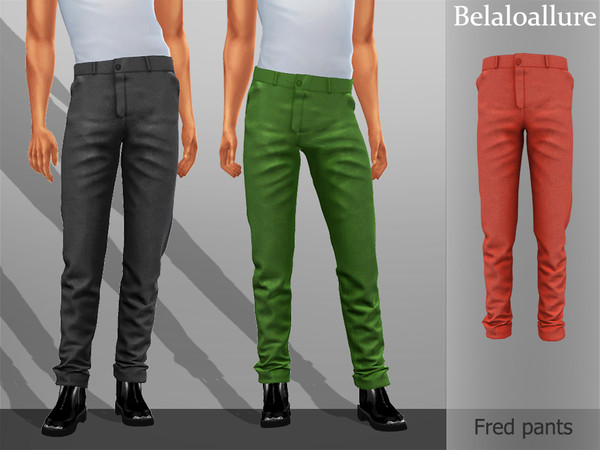 Sims 4 Belaloallure Fred pants by belal1997 at TSR