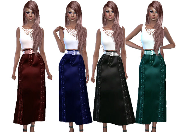 Leather skirt with crop top by TrudieOpp at TSR image 7016 Sims 4 Updates