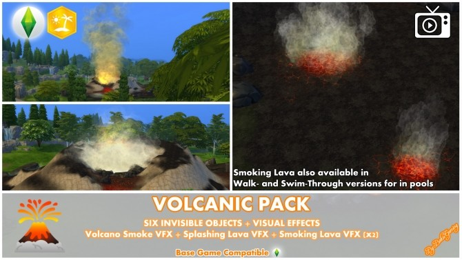 Volcanic Mod Pack by Bakie at Mod The Sims image 714 670x377 Sims 4 Updates