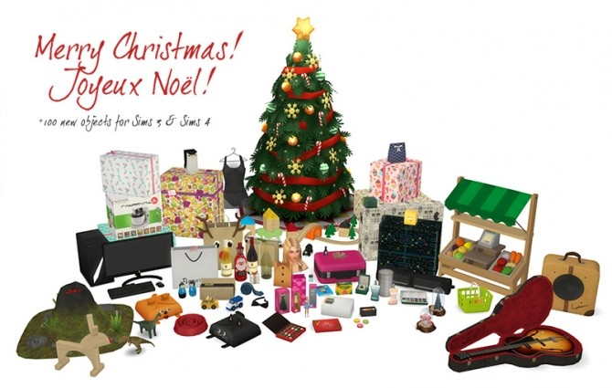 Sims 4 Merry Christmas!  All the gifts are now available at Around the Sims 4