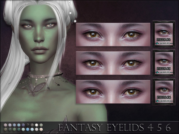 Fantasy Eyelids 4 5 6 by RemusSirion at TSR image 7214 Sims 4 Updates