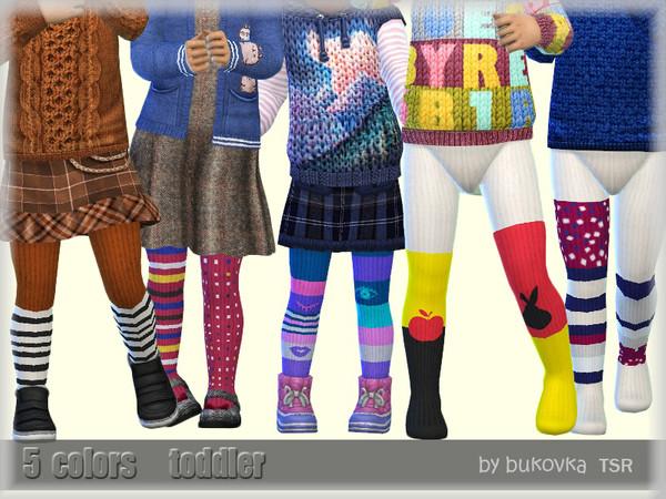 Sims 4 Tights Striped Mix by bukovka at TSR