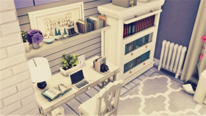 Sims 4 Little White/Grey Loft at Agathea k